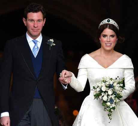 Jack Brooksbank y la princesa Eugenie en su boda de 2018