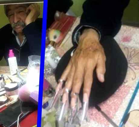 Papá modelo de uñas Facebook