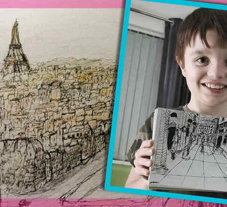 Niño autista increíbles dibujos