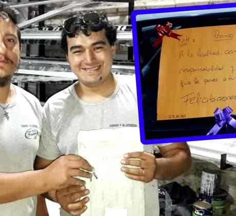 Dueño le regala auto a su empleado