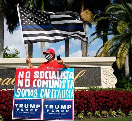 Simpatizante latino del expresidente Donald Trump