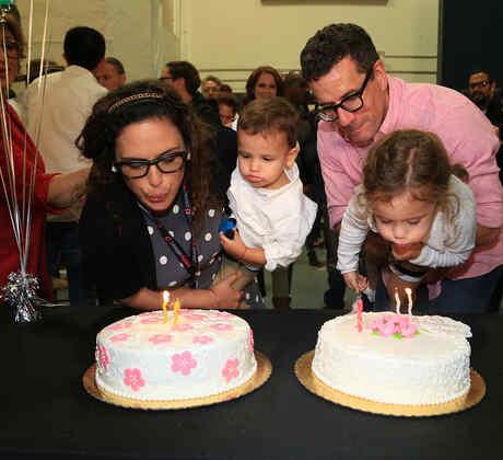 Cumpleaños Angélica Vale en La Fan, Otto Padrón, Familia