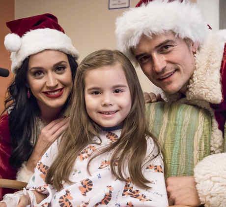 Katy Perry y Orlando Bloom visitan hospital en Los Angeles
