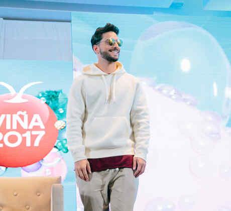 Maluma en la rueda de prensa en el Festival de Viña del Mar 2017