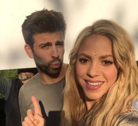 Shakira y Gerard Piqué en grabación de video musical