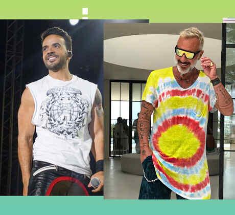Luis Fonsi, Gianluca Vacchi y J Balvin estilo