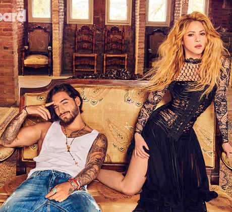 Maluma y Shakira en la Portada latina Billboard 2018