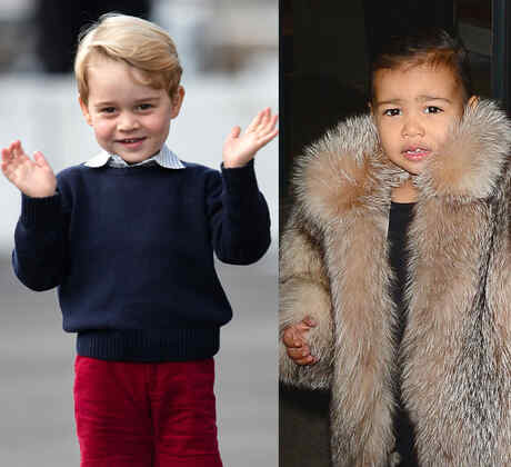 Blue Ivy, príncipe George, North West