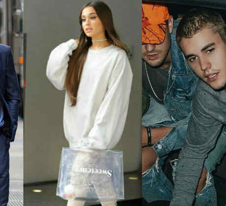 Liam Hemsworth, Ariana Grande, Justin Bieber