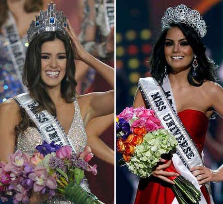 Collage latinas en Miss Universo