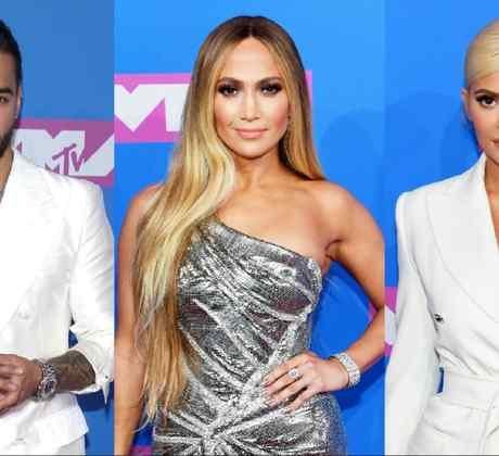 Maluma, JLo, Kylie at VMAs
