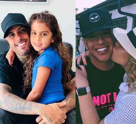 Collage famosos con sus hijos