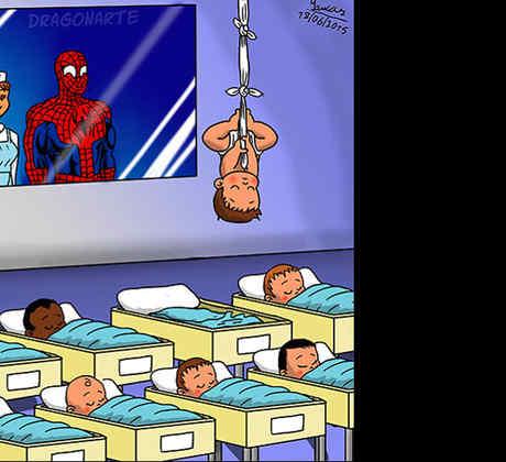 Así serían los bebés de los superhéroes