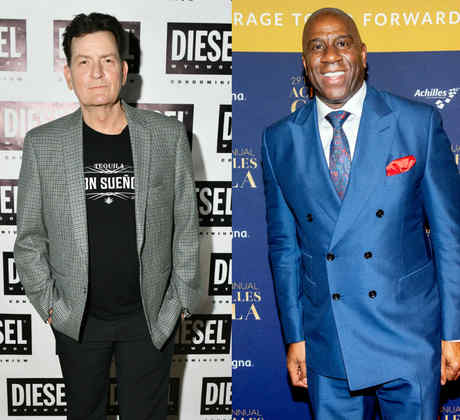 Freddie Mercury, Charlie Sheen y Magic Johnson