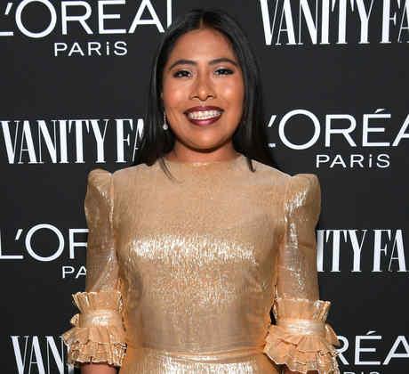 Yalitza Aparicio en un evento de Vanity Fair y L'Oréal Paris en Los Ángeles, California, 2019.