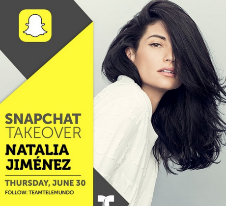 Natalia Jiménez Snapchat takeover 2016