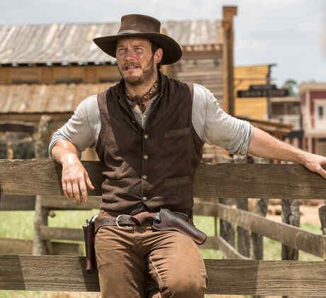 "Denzel Washington y Chris Pratt en ""The Magnificent Seven"""