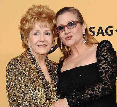 Debbie Reynolds y Carrie Fisher en los SAG Awards 2015