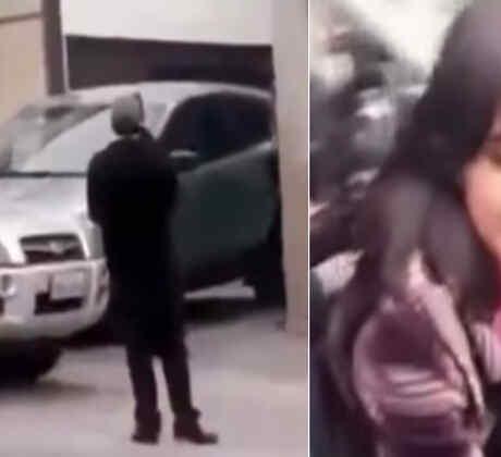 Mujer es infiel a su marido y sale de un motel (VIDEO)