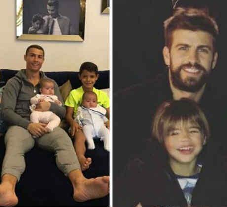 Collage papás futbolistas