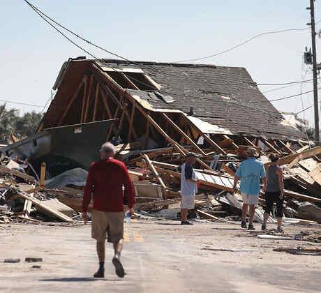 Mexico Beach, Florida, tras el paso del huracán Michael