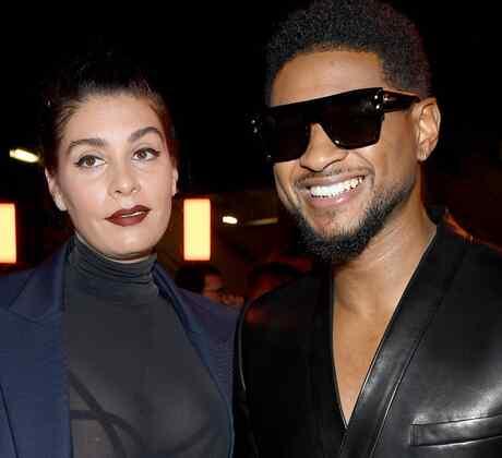 Usher y Jenn Goicoechea