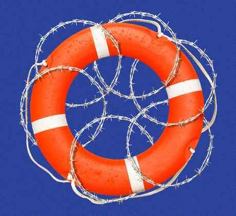 Ilustración de migración por el mar