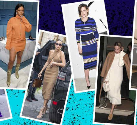 Los vestidos tejidos que las celebs aman usar todo el año   Telemundo