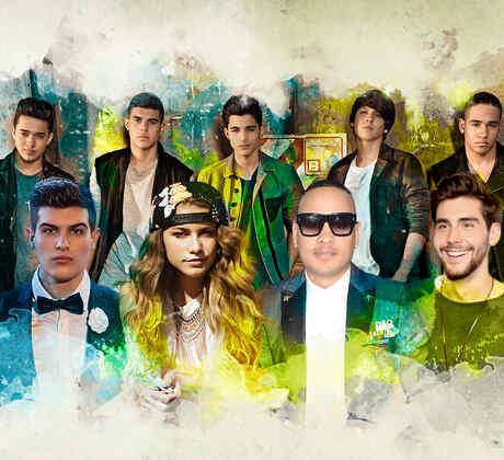 Cnco y sofia reyes en DL de votaciones de Latin AMAs 2016