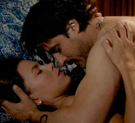 Jorge Zabaleta, Ximena Duque haciendo el amor en la serie Dueños del Paraíso