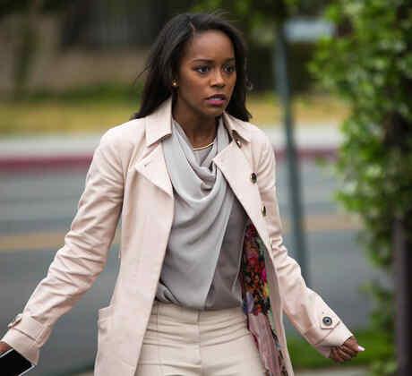 """Aja Naomi King en el personaje de Sohie Clé en la película de Fluency Studios """"Reversion""""."""