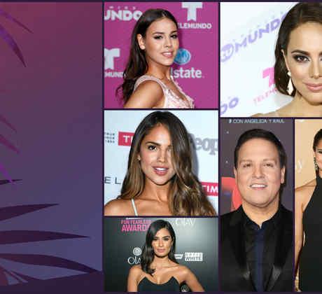 Danna Paola, Maria Elisa Camargo, Raúl González y Gonzalo García Vivanco