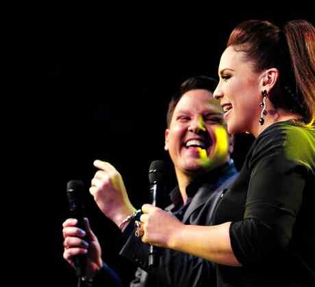 """Angelica y Raul en el cuarto show de """"Que Noche"""""""