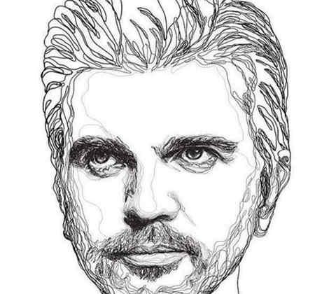 arte de Juanes dibujado for un fanático