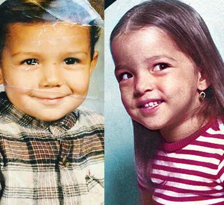 Aracely Arámbula, Luis Coronel y Adamari Lopez de niños