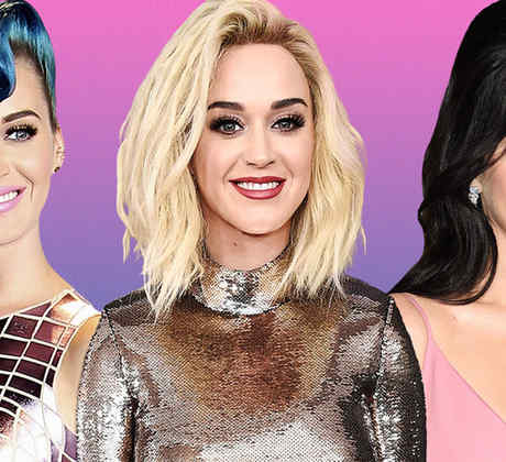 Katy Perry con tres looks de cabello