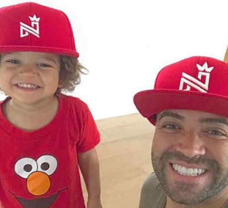 Nacho con su hijo Matías