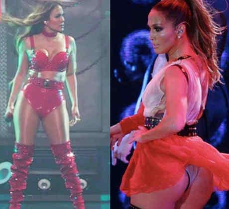 Collage Jennifer Lopez looks