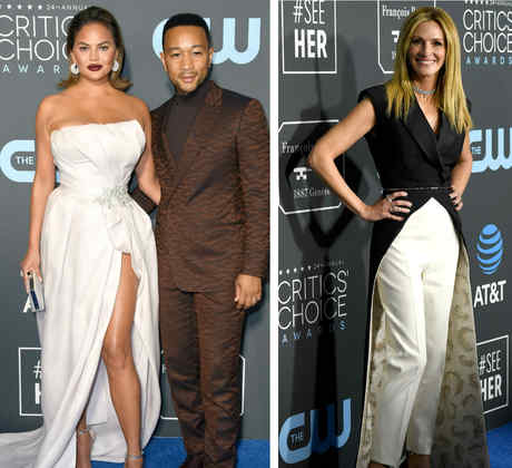 Nicole Kidman, Chrissy Teigen, John Legend y Julia Roberts en los Critics Choice Awards 2019