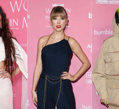 Rosalía, Taylor Swift y Billie Eilish en la alfombra roja de Billboard Women In Music 2019