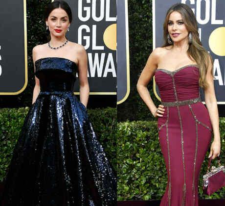 Sofia Carson, Ana de Armas, Sofía Vergara Golden Globes 2020