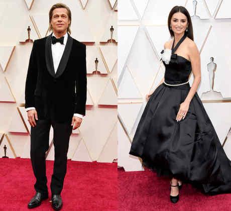 Penelope Cruz, Natalie Portman, Brad Pitt en la alfombra roja de la 92 edición de los Premios de la Academia en Hollywood California