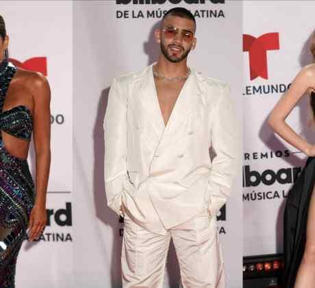 Gaby Espino, Manuel Turizo y Sofia Castro en la alfombra roja de los Premios Billboard 2020