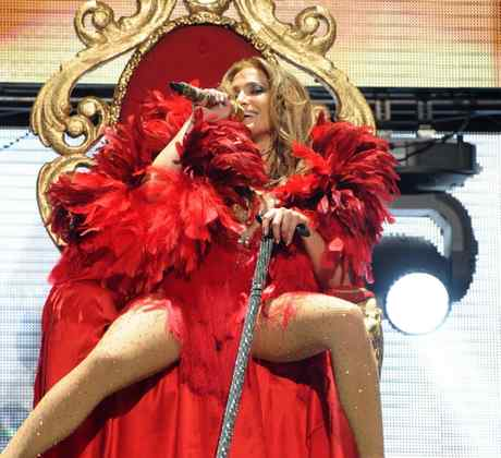 Jennifer Lopez on stage at iHeartRadio Music Festival