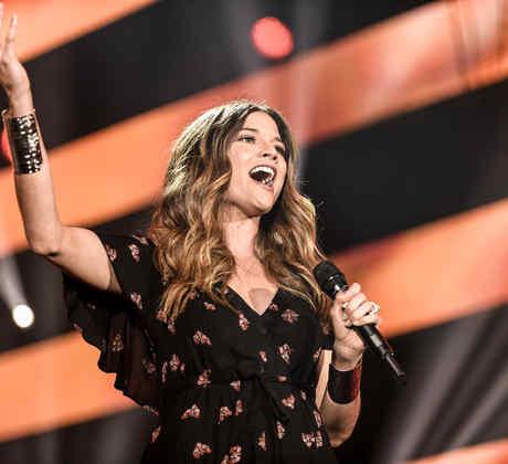 Natalia Jiménez en los ensayos de Premios Billboard 2016