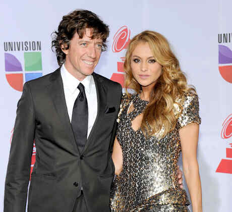 Paulina Rubio with Nicolas Vallejo