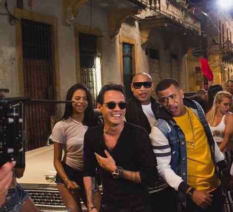 Gente de Zona, Marc Anthony, la gozadera, detras de camaras