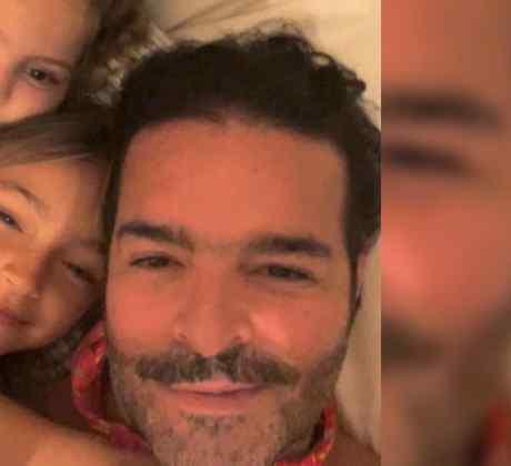 Pablo Montero y sus hijas