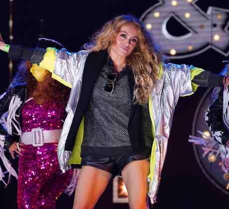 Paulina Rubio en los ensayos de los Premios Billboard 2020