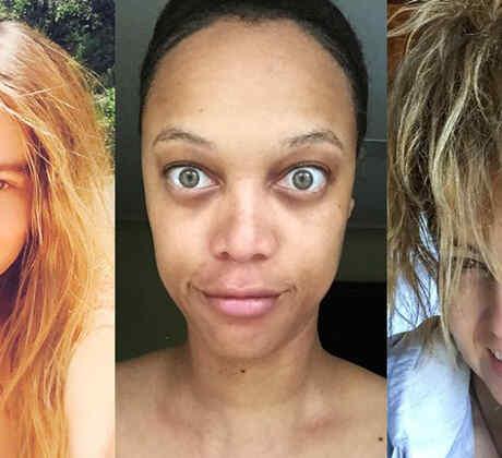 Sofía Vergara, Tyra Banks and Thalía wearing no makeup